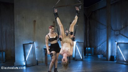 Photo number 9 from Feargasms!  shot for Electro Sluts on Kink.com. Featuring Mona Wales and Mistress Kara in hardcore BDSM & Fetish porn.