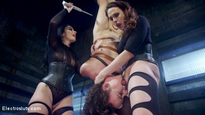 Photo number 15 from Shock the System Pt. 3: The Hologram Submits! shot for Electro Sluts on Kink.com. Featuring Veruca James, Chanel Preston and Lilith Luxe in hardcore BDSM & Fetish porn.