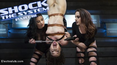Photo number 18 from Shock the System Pt. 3: The Hologram Submits! shot for Electro Sluts on Kink.com. Featuring Veruca James, Chanel Preston and Lilith Luxe in hardcore BDSM & Fetish porn.