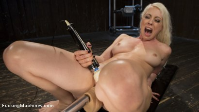 Photo number 8 from Blonde Goddess is Double Penetrated with Machines!! shot for Fucking Machines on Kink.com. Featuring Lorelei Lee in hardcore BDSM & Fetish porn.
