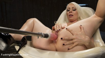 Photo number 2 from Blonde Goddess is Double Penetrated with Machines!! shot for Fucking Machines on Kink.com. Featuring Lorelei Lee in hardcore BDSM & Fetish porn.