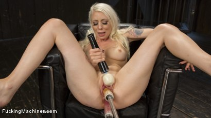 Photo number 13 from Blonde Goddess is Double Penetrated with Machines!! shot for Fucking Machines on Kink.com. Featuring Lorelei Lee in hardcore BDSM & Fetish porn.