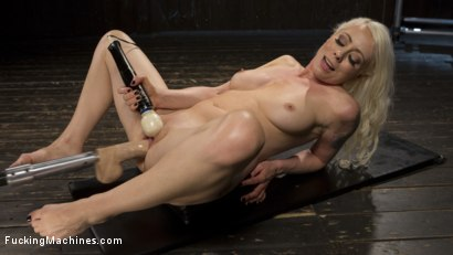 Photo number 7 from Blonde Goddess is Double Penetrated with Machines!! shot for Fucking Machines on Kink.com. Featuring Lorelei Lee in hardcore BDSM & Fetish porn.