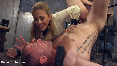 Photo number 25 from Welcome to The Hotel Divine. shot for Divine Bitches on Kink.com. Featuring D. Arclyte, Cherie DeVille and Will Havoc in hardcore BDSM & Fetish porn.