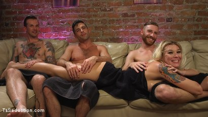Photo number 1 from Aubrey Kate's 1st Cockpit Cum Fest Gangbang! shot for TS Seduction on Kink.com. Featuring Lance Hart, Will Havoc, Sebastian Keys and Aubrey Kate in hardcore BDSM & Fetish porn.