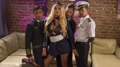 Photo number 2 from Aubrey Kate's 1st Cockpit Cum Fest Gangbang! shot for TS Seduction on Kink.com. Featuring Lance Hart, Will Havoc, Sebastian Keys and Aubrey Kate in hardcore BDSM & Fetish porn.