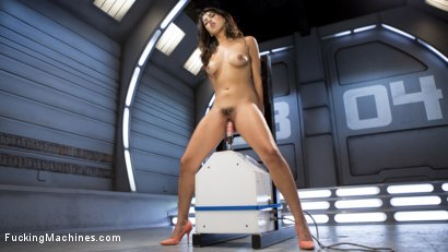 Photo number 5 from **BRAND NEW GIRL** GETS POUNDED WITH MACHINES!!! shot for Fucking Machines on Kink.com. Featuring Sophia Leone in hardcore BDSM & Fetish porn.