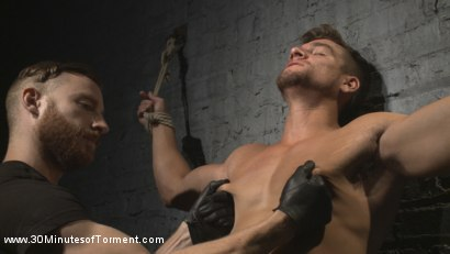 Photo number 2 from Straight Hunk - Solid Muscle - Mercilessly Beaten and Made to Cum shot for 30 Minutes of Torment on Kink.com. Featuring Jordan Boss in hardcore BDSM & Fetish porn.