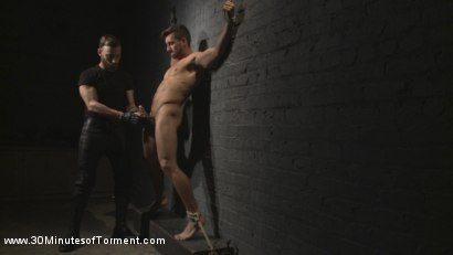 Photo number 3 from Straight Hunk - Solid Muscle - Mercilessly Beaten and Made to Cum shot for 30 Minutes of Torment on Kink.com. Featuring Jordan Boss in hardcore BDSM & Fetish porn.