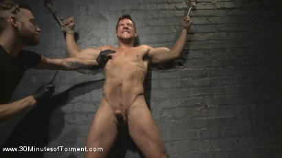 Photo number 4 from Straight Hunk - Solid Muscle - Mercilessly Beaten and Made to Cum shot for 30 Minutes of Torment on Kink.com. Featuring Jordan Boss in hardcore BDSM & Fetish porn.