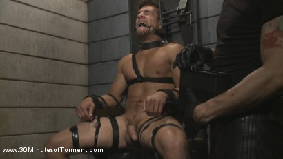 Photo number 14 from Straight Hunk - Solid Muscle - Mercilessly Beaten and Made to Cum shot for 30 Minutes of Torment on Kink.com. Featuring Jordan Boss in hardcore BDSM & Fetish porn.