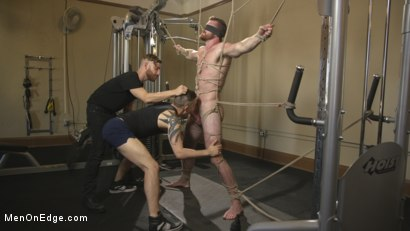 Photo number 12 from Ginger Muscle God Tormented and Edged in Bondage shot for Men On Edge on Kink.com. Featuring Scott Ambrose in hardcore BDSM & Fetish porn.