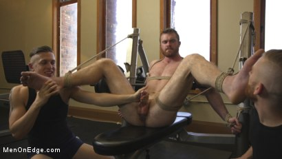 Photo number 7 from Ginger Muscle God Tormented and Edged in Bondage shot for Men On Edge on Kink.com. Featuring Scott Ambrose in hardcore BDSM & Fetish porn.