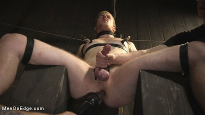Photo number 5 from Edging the Captive Straight Boy shot for Men On Edge on Kink.com. Featuring Chris Pryce in hardcore BDSM & Fetish porn.