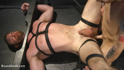 Photo number 10 from Mister Keys Meets his Match with new Switch, Scott Ambrose shot for Bound Gods on Kink.com. Featuring Scott Ambrose and Sebastian Keys in hardcore BDSM & Fetish porn.