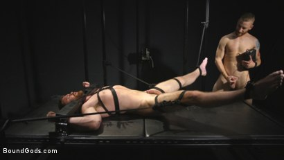 Photo number 9 from Mister Keys Meets his Match with new Switch, Scott Ambrose shot for Bound Gods on Kink.com. Featuring Scott Ambrose and Sebastian Keys in hardcore BDSM & Fetish porn.
