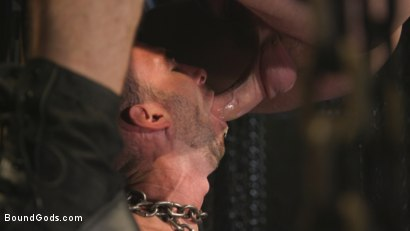 Photo number 5 from New Sub, Tyler Phoenix: Caged and Tormented  shot for Bound Gods on Kink.com. Featuring Trenton Ducati and Tyler Phoenix in hardcore BDSM & Fetish porn.