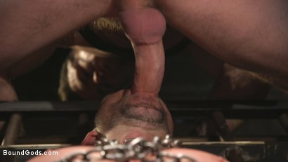 Photo number 7 from New Sub, Tyler Phoenix: Caged and Tormented  shot for Bound Gods on Kink.com. Featuring Trenton Ducati and Tyler Phoenix in hardcore BDSM & Fetish porn.