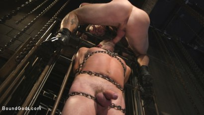 Photo number 6 from New Sub, Tyler Phoenix: Caged and Tormented  shot for Bound Gods on Kink.com. Featuring Trenton Ducati and Tyler Phoenix in hardcore BDSM & Fetish porn.