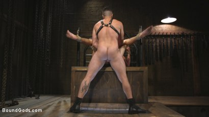 Photo number 14 from New Sub, Tyler Phoenix: Caged and Tormented  shot for Bound Gods on Kink.com. Featuring Trenton Ducati and Tyler Phoenix in hardcore BDSM & Fetish porn.