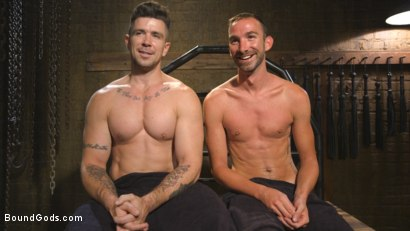 Photo number 15 from New Sub, Tyler Phoenix: Caged and Tormented  shot for Bound Gods on Kink.com. Featuring Trenton Ducati and Tyler Phoenix in hardcore BDSM & Fetish porn.