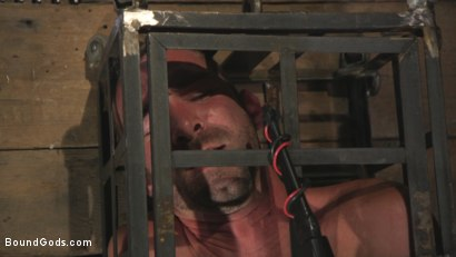 Photo number 2 from New Sub, Tyler Phoenix: Caged and Tormented  shot for Bound Gods on Kink.com. Featuring Trenton Ducati and Tyler Phoenix in hardcore BDSM & Fetish porn.