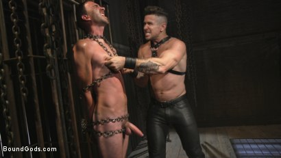 Photo number 3 from New Sub, Tyler Phoenix: Caged and Tormented  shot for Bound Gods on Kink.com. Featuring Trenton Ducati and Tyler Phoenix in hardcore BDSM & Fetish porn.