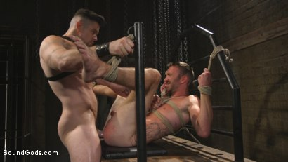 Photo number 12 from New Sub, Tyler Phoenix: Caged and Tormented  shot for Bound Gods on Kink.com. Featuring Trenton Ducati and Tyler Phoenix in hardcore BDSM & Fetish porn.