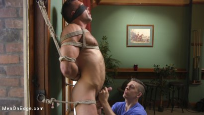 Photo number 1 from Furry Muscular Stud is Bound and Edged on a Pool Table! shot for Men On Edge on Kink.com. Featuring Alex Mecum in hardcore BDSM & Fetish porn.