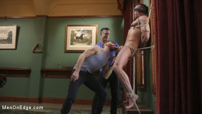 Photo number 5 from Furry Muscular Stud is Bound and Edged on a Pool Table! shot for Men On Edge on Kink.com. Featuring Alex Mecum in hardcore BDSM & Fetish porn.