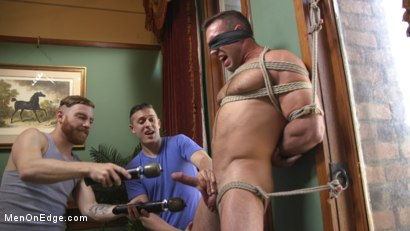 Photo number 6 from Furry Muscular Stud is Bound and Edged on a Pool Table! shot for Men On Edge on Kink.com. Featuring Alex Mecum in hardcore BDSM & Fetish porn.