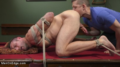 Photo number 7 from Furry Muscular Stud is Bound and Edged on a Pool Table! shot for Men On Edge on Kink.com. Featuring Alex Mecum in hardcore BDSM & Fetish porn.