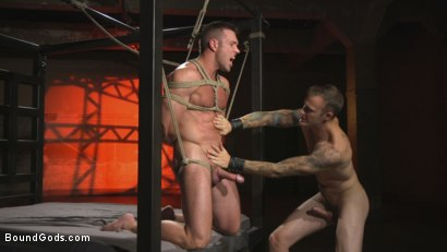 Photo number 10 from The One and Only, Alex Mecum  shot for Bound Gods on Kink.com. Featuring Christian Wilde and Alex Mecum in hardcore BDSM & Fetish porn.
