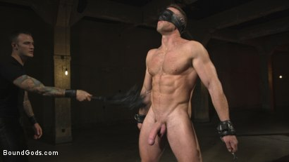 Photo number 3 from The One and Only, Alex Mecum  shot for Bound Gods on Kink.com. Featuring Christian Wilde and Alex Mecum in hardcore BDSM & Fetish porn.