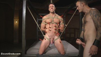 Photo number 8 from The One and Only, Alex Mecum  shot for Bound Gods on Kink.com. Featuring Christian Wilde and Alex Mecum in hardcore BDSM & Fetish porn.