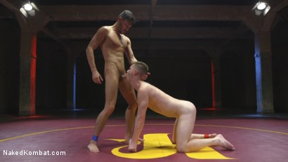 Photo number 9 from Two Boys Next Door with Giant Cocks Face Off! shot for Naked Kombat on Kink.com. Featuring Scott DeMarco and Kyler Ash in hardcore BDSM & Fetish porn.
