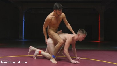 Photo number 8 from Two Boys Next Door with Giant Cocks Face Off! shot for Naked Kombat on Kink.com. Featuring Scott DeMarco and Kyler Ash in hardcore BDSM & Fetish porn.