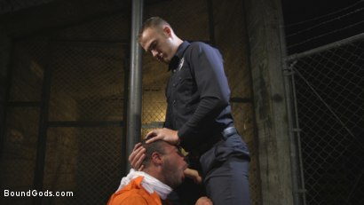 Photo number 5 from Lieutenant Wilde's Extreme Justice shot for Bound Gods on Kink.com. Featuring Christian Wilde and Micah Brandt in hardcore BDSM & Fetish porn.
