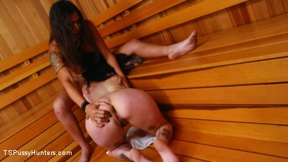 Photo number 3 from Sauna Perverts: Tori Mayes and Arabelle Raphael shot for TS Pussy Hunters on Kink.com. Featuring Tori Mayes and Arabelle Raphael in hardcore BDSM & Fetish porn.