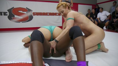Photo number 5 from Orgasm on the Mat Destroys one Teams chances of winning shot for Ultimate Surrender on Kink.com. Featuring Cheyenne Jewel, Ana Foxxx, Adley Rose and Mona Wales in hardcore BDSM & Fetish porn.