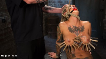 Photo number 11 from ALT Tattooed Pain Slut Submits in Grueling Bondage shot for Hogtied on Kink.com. Featuring Kleio Valentien in hardcore BDSM & Fetish porn.