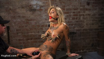 Photo number 13 from ALT Tattooed Pain Slut Submits in Grueling Bondage shot for Hogtied on Kink.com. Featuring Kleio Valentien in hardcore BDSM & Fetish porn.