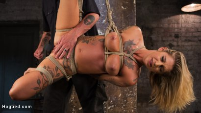 Photo number 17 from ALT Tattooed Pain Slut Submits in Grueling Bondage shot for Hogtied on Kink.com. Featuring Kleio Valentien in hardcore BDSM & Fetish porn.