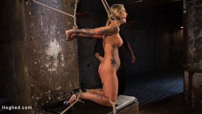 Photo number 3 from ALT Tattooed Pain Slut Submits in Grueling Bondage shot for Hogtied on Kink.com. Featuring Kleio Valentien in hardcore BDSM & Fetish porn.