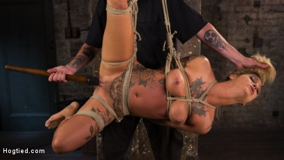Photo number 22 from ALT Tattooed Pain Slut Submits in Grueling Bondage shot for Hogtied on Kink.com. Featuring Kleio Valentien in hardcore BDSM & Fetish porn.