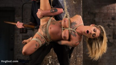 Photo number 24 from ALT Tattooed Pain Slut Submits in Grueling Bondage shot for Hogtied on Kink.com. Featuring Kleio Valentien in hardcore BDSM & Fetish porn.