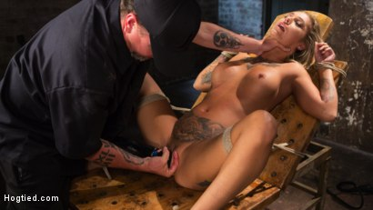 Photo number 32 from ALT Tattooed Pain Slut Submits in Grueling Bondage shot for Hogtied on Kink.com. Featuring Kleio Valentien in hardcore BDSM & Fetish porn.