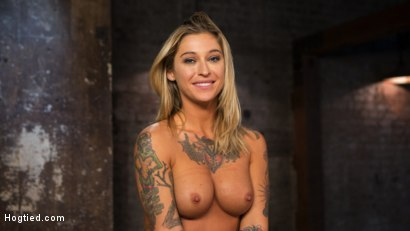 Photo number 37 from ALT Tattooed Pain Slut Submits in Grueling Bondage shot for Hogtied on Kink.com. Featuring Kleio Valentien in hardcore BDSM & Fetish porn.