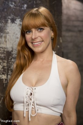 Photo number 17 from Red Headed Rope Slut is Violated and Tormented shot for Hogtied on Kink.com. Featuring Penny Pax and The Pope in hardcore BDSM & Fetish porn.