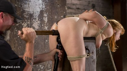 Photo number 10 from Red Headed Rope Slut is Violated and Tormented shot for Hogtied on Kink.com. Featuring Penny Pax and The Pope in hardcore BDSM & Fetish porn.